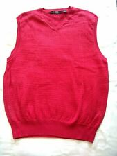 Mens CARNOUSTIE Size L Clothing 100% PIMA Cotton Golf Sweater Vest Red GUC