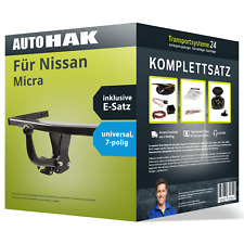 AHK abnehmbar Nissan Micra K12 03//10 7p E-Satz mit Blinküberwachung