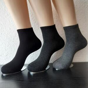 3 Pair Women's Harmony Trainers Bamboo short Sock Socks Black and Grey 35 - 42
