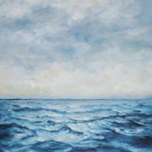 The Open Sea Modern Oil Painting on a Rolled Linen Canvas 80cm x 80cm