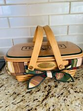 Longaberger Homestead Woven Memories Basket 2000 with Liner, Protector & Lid!