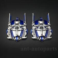 2pcs New Metal Transformers Autobots Deceptions Car Emblem Badge Decal Sticker