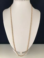 """14k solid yellow gold necklace EUC Twisted Rope Link 24"""" 6.4Grams"""