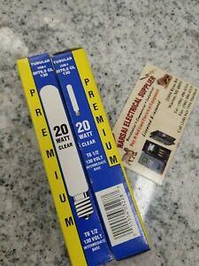 Tubular BULB 20T6 .5CL130 130 Volt 20 Watt CLEAR INTERMEDIATE BASE (BOX#8)