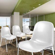 4 Set Design Chaises Blanc chromé Cuisine Places assises Warte Chambre Siège