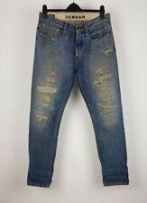 Denham Razor Mens Denim Blue Distressed Slim Fit Jeans W32 L32