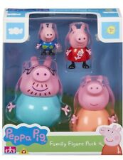 Peppa Pig Family Set-Mummy Daddy Peppa Play George Pig Toys