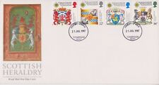 UNADDRESSED GB ROYAL MAIL FDC 1987 SCOTTISH HERALDRY STAMP SET TONBRIDGE PMK