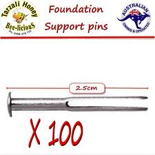 WAX FOUNDATION SUPPORT PINS X 100+   BEES WAX EASY  HONEYCOMB   FOUNDATION PINS