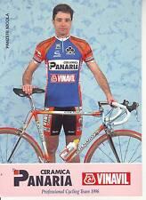 CYCLISME carte cycliste PANZERI NICOLA équipe CERAMICA PANARIA 1996