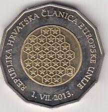 Kroatien, 25 Kuna 2013. Bi - Metall  ( K - N / Al - N - Bro ), Kroatien als Mit.