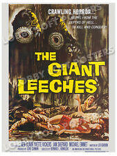 THE GIANT LEECHES (ATTACK OF) LOBBY CARD POSTER OS 1959 KEN CLARK YVETTE VICKERS