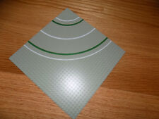 Vintage Lego Base plate Gray Green & White Road curved 10x10 32 knob