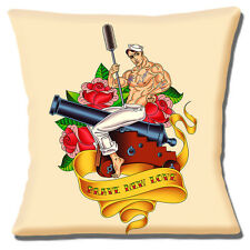 Sailor Jerry Tattoo Cushion Cover 16 inch 40cm sailor on Cannon Brave New Hope