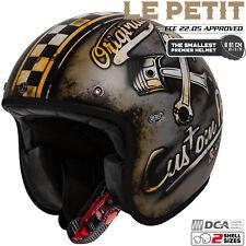 PREMIER Jethelm mit Visier VINTAGE STAR 8 BM weiß Stern Retro Motorrad Helm ECE