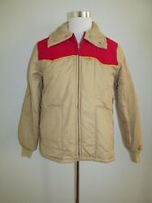 Vintage 70's Mens Kent Feeds Size M Tan Quilted Puffer Jacket