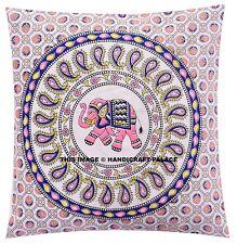 "Indian Elephant Mandala Cushion Cover Home Decorative Pillow Case Cover 16"""