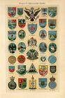 1920s ARMS USA SIAM CHINA PERU CUBA MONGOLIA PERSIA HAITI PANAMA Antique Print