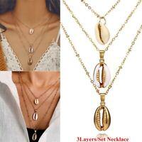 Muschel Anhänger Böhmisch Juwelen am Strand Halskette mit Multilayer Shell