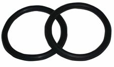 Peacock Safety Stirrup Irons Rubber Rings Riding Showing Black