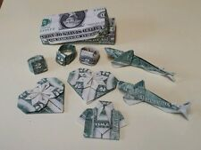 2 for $7 Origami  Great Unique Gift $2 Dollar Bill shark, heart,rings shirt tie!