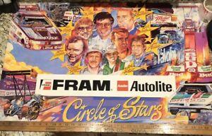 Vintage 90's Fram Autolite Circle Of Stars Poster. Dragster.John Force,Joe Amato
