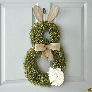 Cottontail Easter Bunny Wreath - Spring Season Front Door Decoration