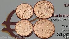 1 + 2 centesimi euro 2012 fdc ESTONIA Eesti Estonie Estland Эстония