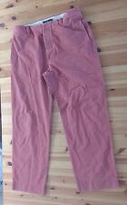 J Crew Broken-In CHINO PANTS Salmon Pink Men's Size 35 X 32 Cotton Button Fly