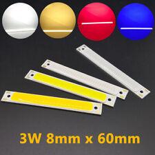 LED COB Strip Light Bulb 8 x 60mm 3W LED Light Source Chip DC 3V For DIY Lamp RK