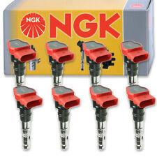 8 pcs NGK Ignition Coil for 2005-2006 Audi A6 Quattro 4.2L V8 - Spark Plug xn