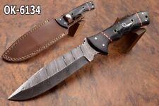 "12"" OLGA CUSTOM MADE DAMASCUS STEEL FORGE TACTICAL HUNTING  BLADE KNIFE 6134"