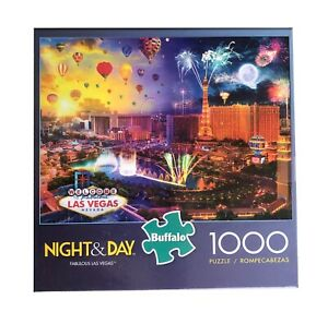 FABULOUS LAS VEGAS - NIGHT AND DAY - Complete - BUFFALO GAMES PUZZLE