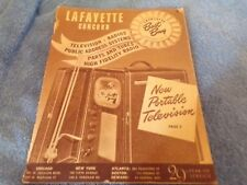 1949 Printing of: Lafayette Advertising Supplement: Radios, P.A. System, TV