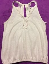 Free People Womens White Tank Top Sleeveless Blouse Shirt X Small Adult Sz XS