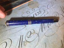 Antique Parker Duofold Jr. Lucky Curve Fountain Pen1920s Lapis Blue 14K Nib