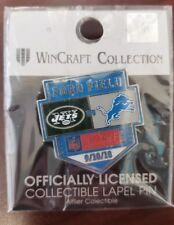 New York Jets VS Detroit Lions 9/10/18  HOME OPENER Game Day Pin FREE SHIPPING