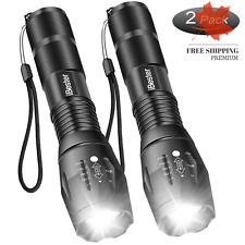 Tactical Flashlight 1600 Lumens CREE XML-T6 LED Taclight Portable Zoomable 5 ...