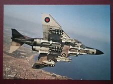 POSTCARD AIR MCDONNEL F-4M PHANTOM FGR-2 RECONNAISSANCE JET