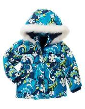 GYMBOREE SNOWFLAKE SHIMMER BLUE SNOWFLAKE PUFFER JACKET 3 4 5 6 7 8 10 12 NWT
