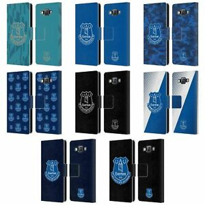OFFICIAL EVERTON FOOTBALL CLUB CREST LEATHER BOOK CASE FOR SAMSUNG PHONES 2