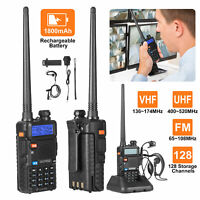 BaoFeng UV-5R 5W  Powerful Walkie Talkie Dual Band Long Range Two Way Ham Radio