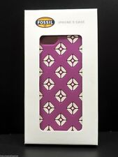 Fossil iPhone 5 Case Magenta Cell Phone Case Cover New In Box!