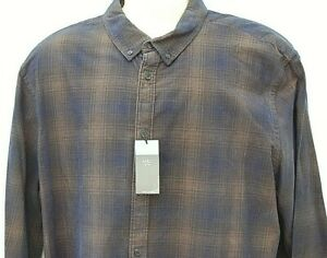 Marks & Spencer 100% Cotton Check Shirt Long Sleeve Flannel Lumberjack XXL New