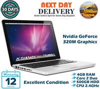 "Apple MacBook Pro 13.3"" Intel C2D 2.40GHz 4GB RAM 500GB HDD High Sierra A Grade"