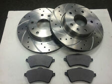 FORD FIESTA MK6 2.0 ST 150 FRONT & REAR DRILLED AND GROOVED DISCS AND PAD SET