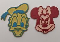 Vintage Red Minnie Mouse and Yellow and Blue Donald Rubber Magnets