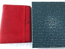 FILOFAX/ORGANISER-ADELPHI A5 COMPACT-VERY RARE DELUXE RED SMOOTH LEATHER~ BOXED