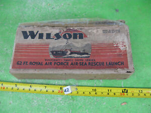 vintage wilson model kit wood boat / ship rare RAF air sea rescue launch n42