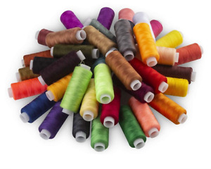39 PCS Mixed Colors Polyester Yarn Sewing Thread 160 Yards Embroider For Sewing